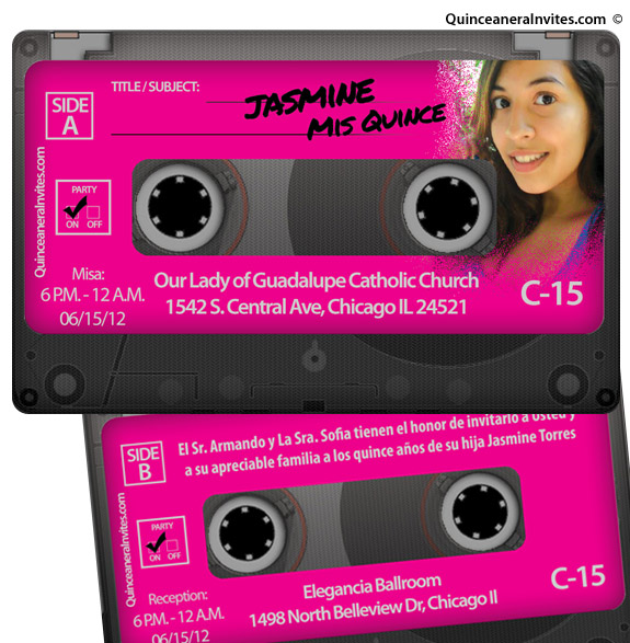 80s Cassette Party Invitations – Quinceanera Party Invitations