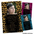 Cheetah Sweet 15 Party Invitations with Photo