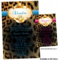 Cheetah Quince Invitations with Gold