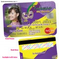 Mardi Gras Credit Card Invitations