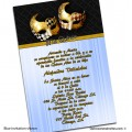 Mask Quinceanera Invitations