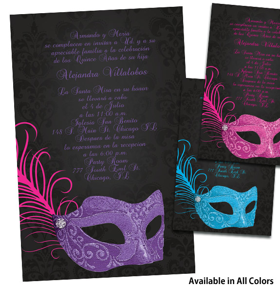 Masquerade Quinceanera Invitations