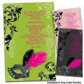 Elegant Masquerade Party Invitations