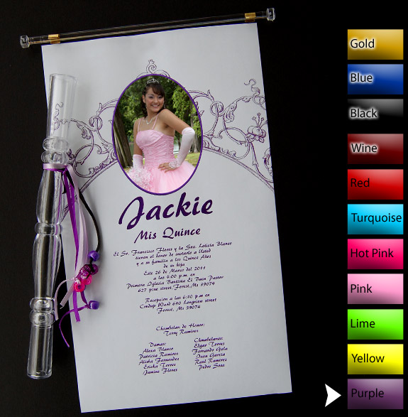 Tube Invitations For Quinceaneras as luxury invitations sample