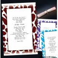 Leopard Scroll Invitations