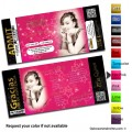 Gold Ticket Quinceanera Invitations