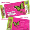 Quince Ticket Invitations with Butterflies