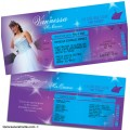 Cruise Line Ticket Quinceanera Invitations