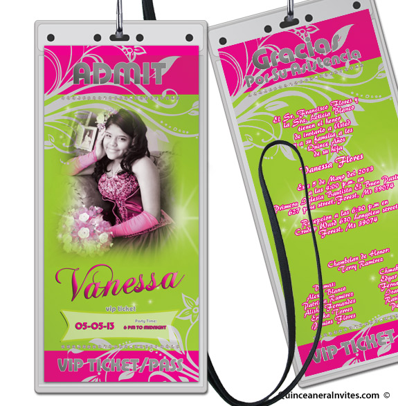 VIP TICKET PASS Party Invitations – Vip Ticket Invitations