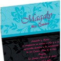 Pretty Flowers Quinceanera Invitations