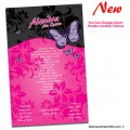 Floral Beauty Quinceanera Invitations with Butterflies