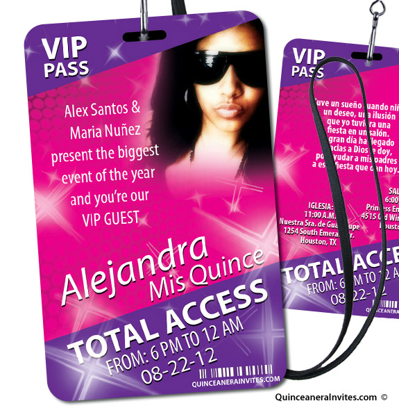 vip pass party invitations