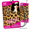 VIP Pass - Cheetah Sweet 16 Party Invitations