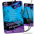 VIP Pass - Masquerade Party Invitations