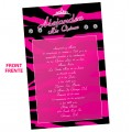 Zebra Sweet 15 Invitations