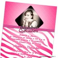 Zebra Quinceanera Invitations With Your Photo