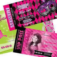 ticket quinceanera invitations