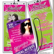 Quinceanera vip passes and invitations